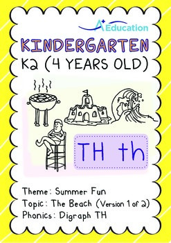 Summer Fun - The Beach (I): Digraph TH - K2 (4 years old)