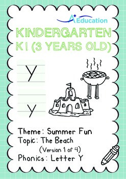 Summer Fun - The Beach (I): Letter Y - K1 (3 years old)