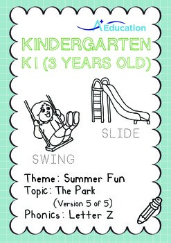 Summer Fun - The Park (V): Letter Z - K1 (3 years old)
