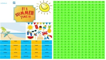 Summer Fun Word Search