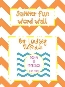 Summer Fun Word Wall