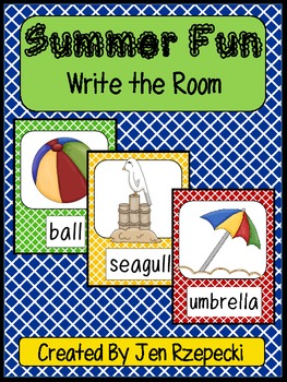 Summer Fun-Write the Room (Words or Sentences)