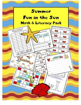 Summer Fun in the Sun Math and Literacy Pack