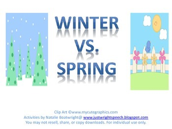 Winter Vs. Spring - Freebie