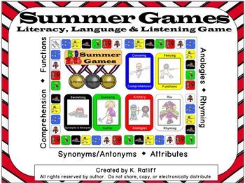 Summer Games: Literacy, Language & Listening Game