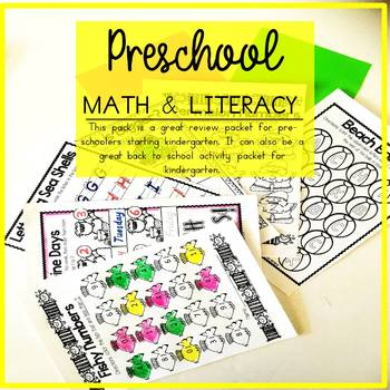 Summer of Preschool Back to School Kindergarten Printables