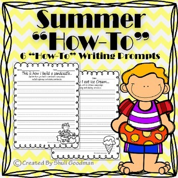 """Summer """"How-To"""" Writing Prompts"""