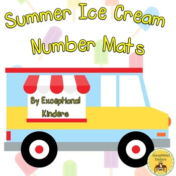 Summer Ice Cream Treats Counting Mats