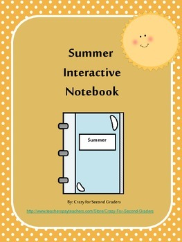 Summer Interactive Writing Notebook