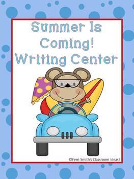 Summer Beach Themed Writing Center
