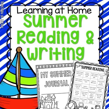 Summer Writing (Journal and Reading Monthly Chart)