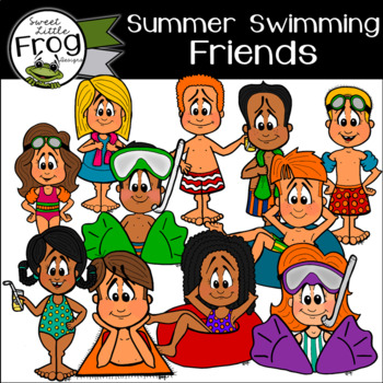 Summer Kids Clip Art (c) Shaunna Page 2016