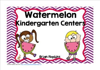Summer Kindergarten Reading and Math Centers