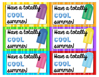 Summer Tags - End of school year printables