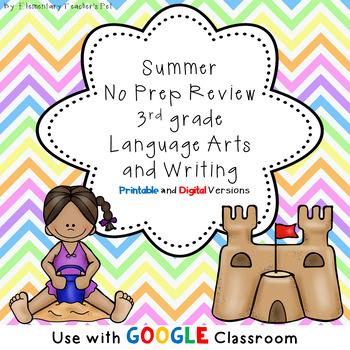 Summer Language Arts No Prep Packet- 3rd Grade