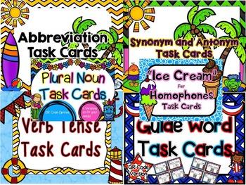Summer Language Arts Task Card Bundle