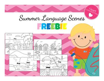Summer Language Scenes - FREEBIE