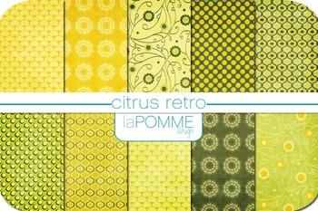 Summer Lemonade Limeade Citrus Digital Paper Pack
