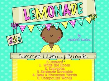 Summer Literacy Center Bundle