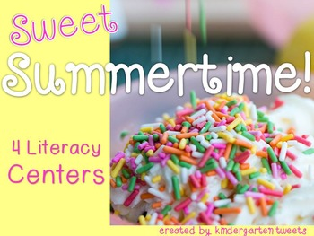 Summer Literacy Centers for Kindergarten