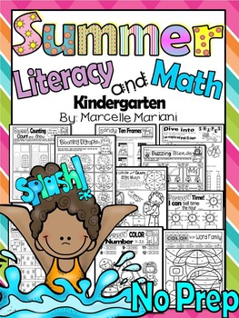 Summer Worksheets-  80+ Literacy & Math worksheets for sum