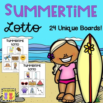 Summer Lotto, End of School, Summer Vocabulary