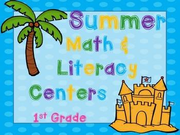 Summer Lovin' 1st Grade Math & Literacy Pack (17 CCSS Centers)
