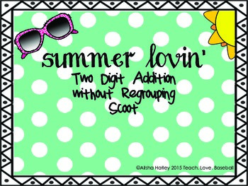 Summer Lovin' 2 digit plus 2 digit addition