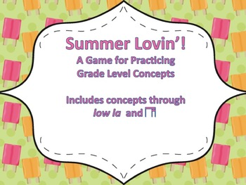 Summer Lovin':  A Review Game for Third Grade (ti-tika & low la)
