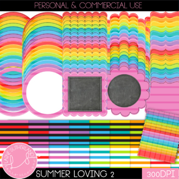Summer Loving (Volume 2) Digital Paper and Accent Set