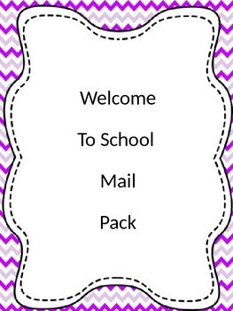Summer Mail-School info and Getting to know you