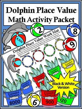 Summer Math Activities: Dolphin Place Value Summer Math Activity