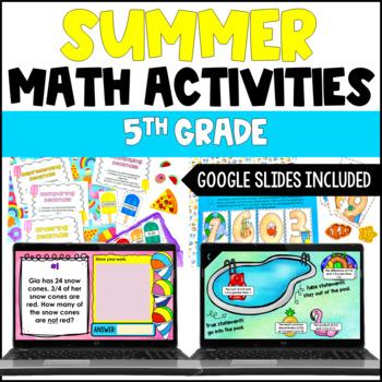 Summer Math Centers 4th and 5th Grade {Common Core Aligned}