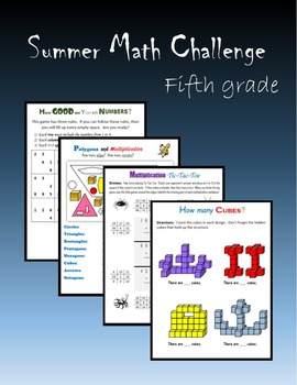 Summer Math Challenge:  Fifth grade
