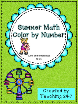 Summer Math Color by Number