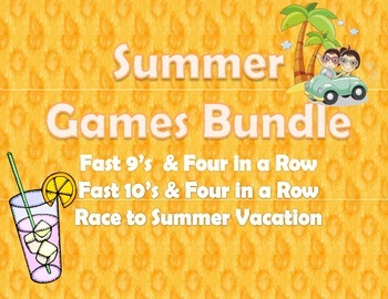 Summer Math Games Bundle