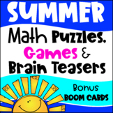 Summer Math Games, Puzzles and Brain Teasers