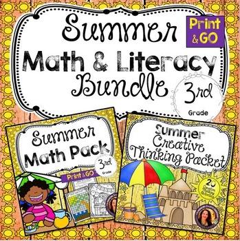 Summer Math & Literacy Bundle for 3rd Grade