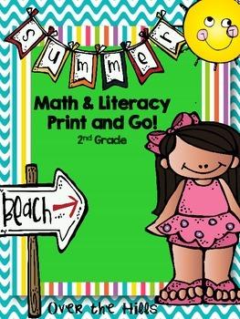 Summer Math & Literacy Print & Go {2nd grade CCSS}