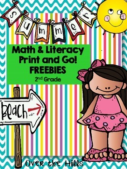 Summer Math & Literacy Print & Go Freebies {2nd Grade}