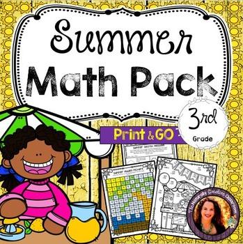 Summer Math Pack for 3rd Grade