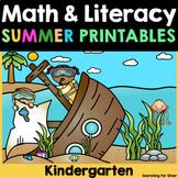 Summer Review Math No-Prep {Kindergarten}