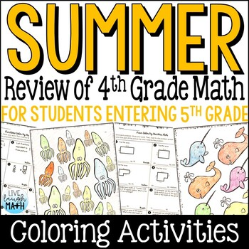 End of Year Math Packet: Fourth Grade Math Review