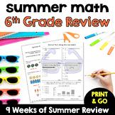 Summer Math - Rising 7th Graders (review of 6th grade math)