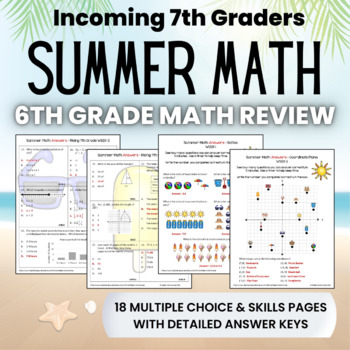 Summer Math - Rising 7th Graders (review of 6th grade math)