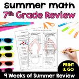 Summer Math - Rising 8th Graders (review of 7th grade math)