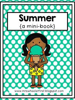 First Grade Mini-Book: Summer