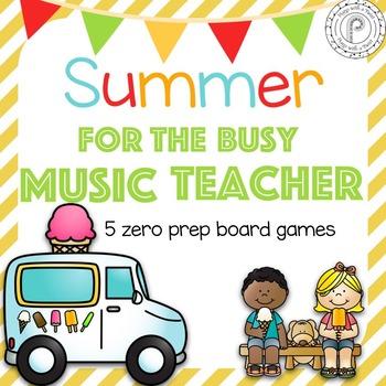 Summer No Prep Board Games