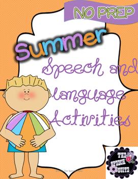 Summer NO PREP Speech and Language Pack