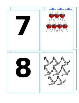 Summer Number Cards